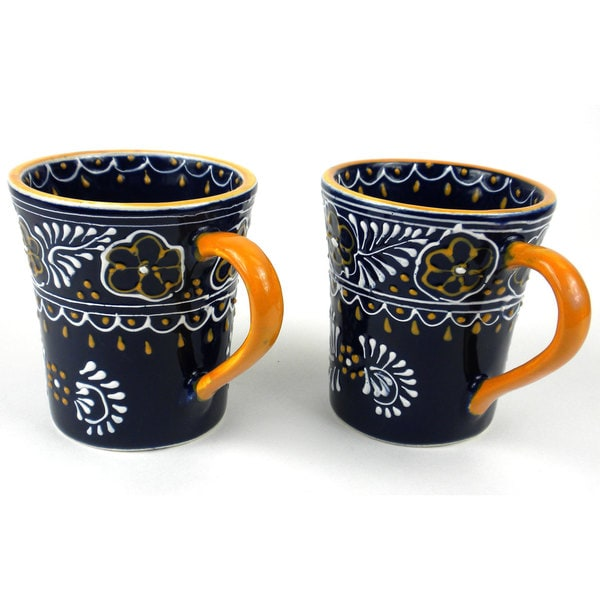 Set of 2 Handmade Flared Cups in Blue - Encantada Pottery (Mexico) 16484512