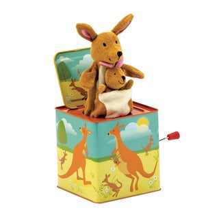 Schylling Kangaroo and Baby Jack in the Box