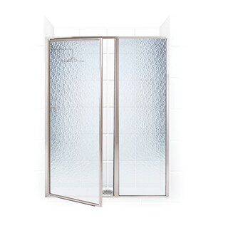 Legend Series 39.5-inch to 41-inch x 69-inch Framed Hinge Swing Shower Door with Inline Panel