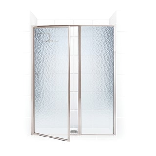 Legend Series 54.5-inch to 56-inch x 69-inch Framed Hinge Swing Shower Door with Inline Panel