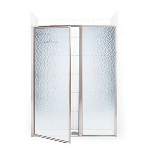 Legend Series 55.5-inch to 57-inch x 69-inch Framed Hinge Swing Shower Door with Inline Panel