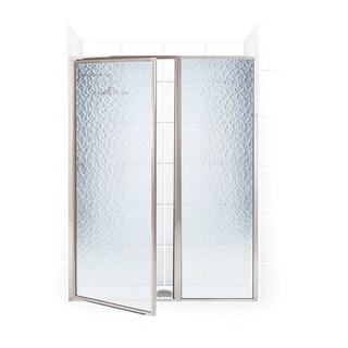 Legend Series 56.5-inch to 58-inch x 66-inch Framed Hinge Swing Shower Door with Inline Panel