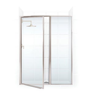 Legend Series 41.5-inch to 43-inch x 69-inch Framed Hinge Swing Shower Door with Inline Panel