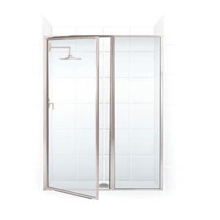 Legend Series 59.5-inch to 61-inch x 69-inch Framed Hinge Swing Shower Door with Inline Panel