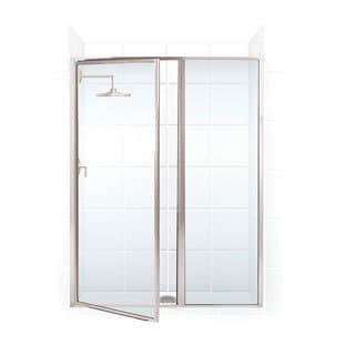 Legend Series 53.5-inch to 55-inch x 66-inch Framed Hinge Swing Shower Door with Inline Panel