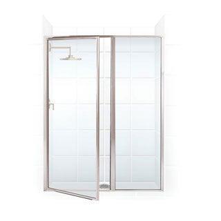 Legend Series 58.5-inch to 60-inch x 66-inch Framed Hinge Swing Shower Door with Inline Panel