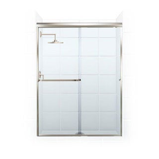 Paragon 3/16 B Series 52-inch x 69-inch Frameless Sliding Shower Door with Towel Bar