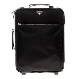 Prada Nylon and Saffiano Leather Trim Travel Trolley