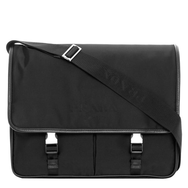 Prada Nylon Flap Messenger Bag