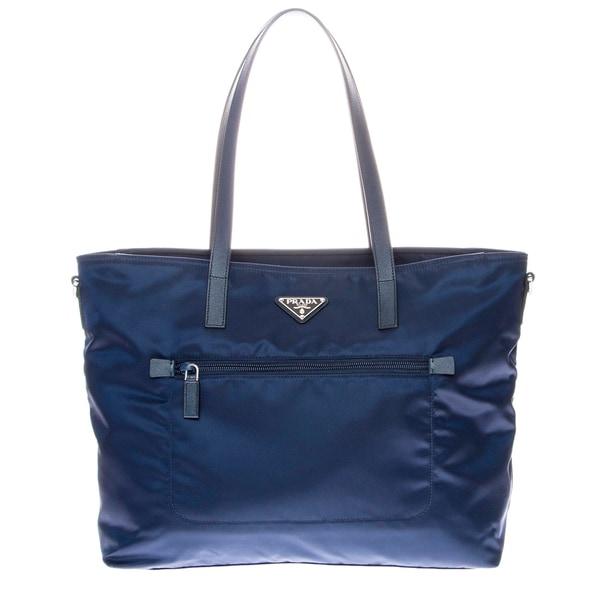 Prada Vela Zip-Front Tote Bag