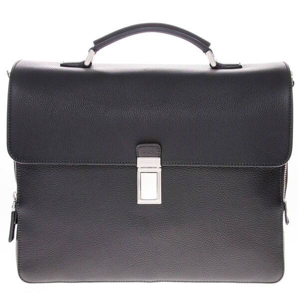 Prada Flap Leather Briefcase