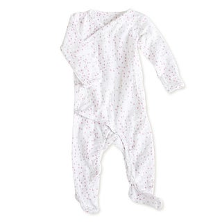 aden + anais Girls 3-6 Months Lovely Mini Hearts Muslin Long-Sleeve Kimono One Piece