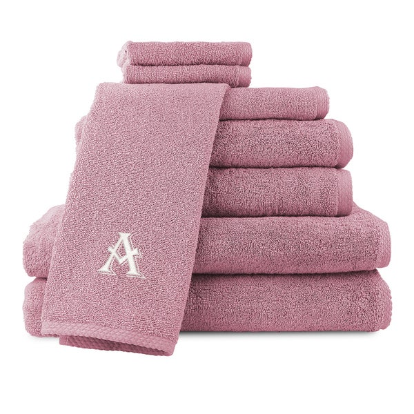 Caldridge 100-percent Turkish Cotton Embroidered 8-piece Towel Set - Blush
