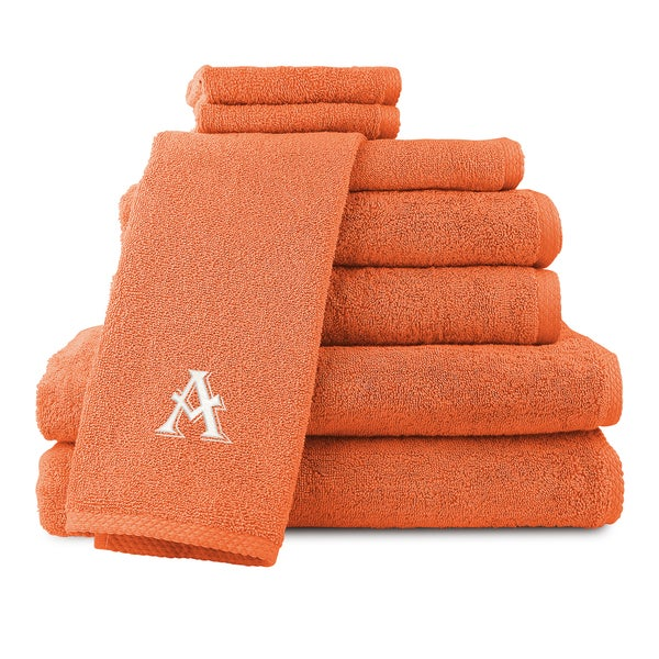 Caldridge 100-percent Turkish Cotton Embroidered 8-piece Towel Set - Orange