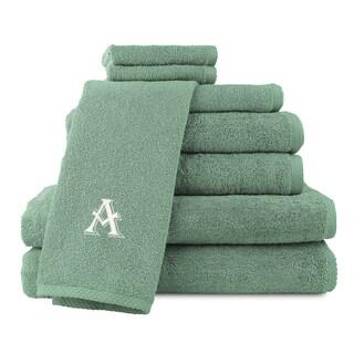 Caldridge 100-percent Turkish Cotton Embroidered 8-piece Towel Set - Sage