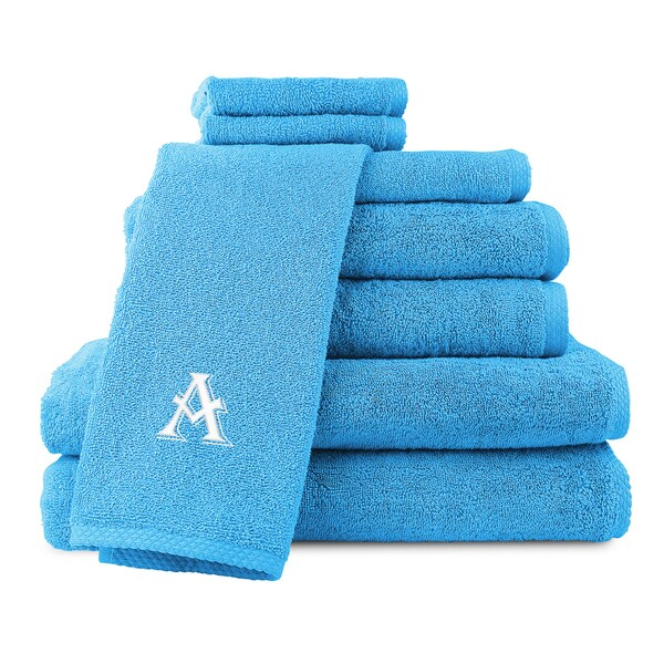 Caldridge 100-percent Turkish Cotton Embroidered 8-piece Towel Set - Aqua