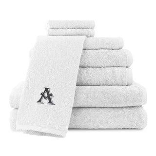 Caldridge 100-percent Turkish Cotton Embroidered 8-piece Towel Set - White