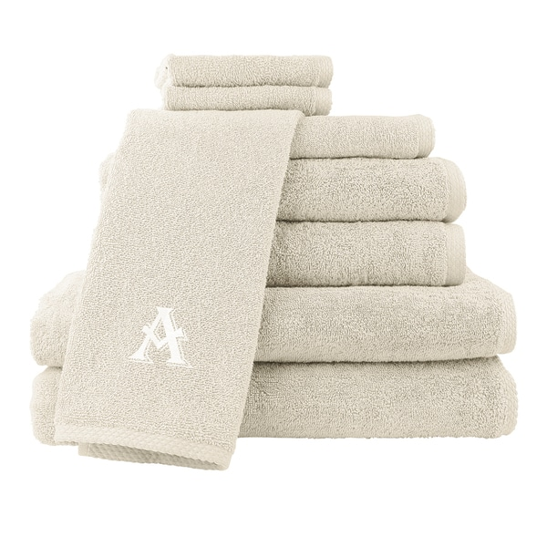 Caldridge 100-percent Turkish Cotton Embroidered 8-piece Towel Set - Cream