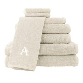 Caldridge 100-percent Turkish Cotton Embroidered 8-piece Towel Set - Cream