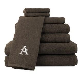 Caldridge 100-percent Turkish Cotton Embroidered 8-piece Towel Set - Chocolate
