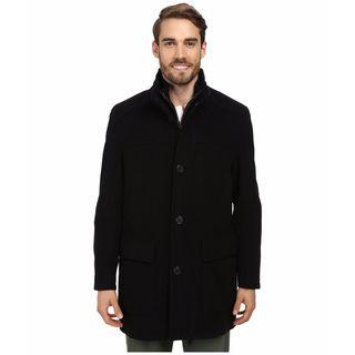 Cole Haan Men's Black Wool Cashmere 3/4-Length Coat