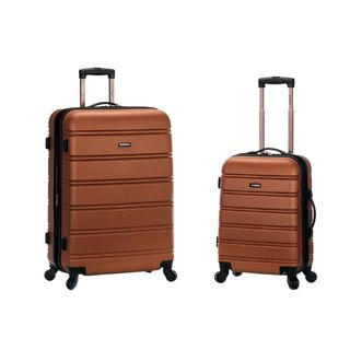 Rockland Brown Light Weight 2-piece Expandable Hardside Spinner Upright Luggage Set