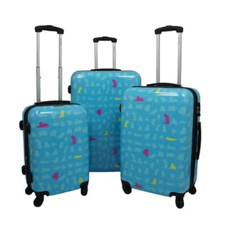 Chariot Summer Cat 3-piece Hardside Lightweight Upright Spinner Luggage Set