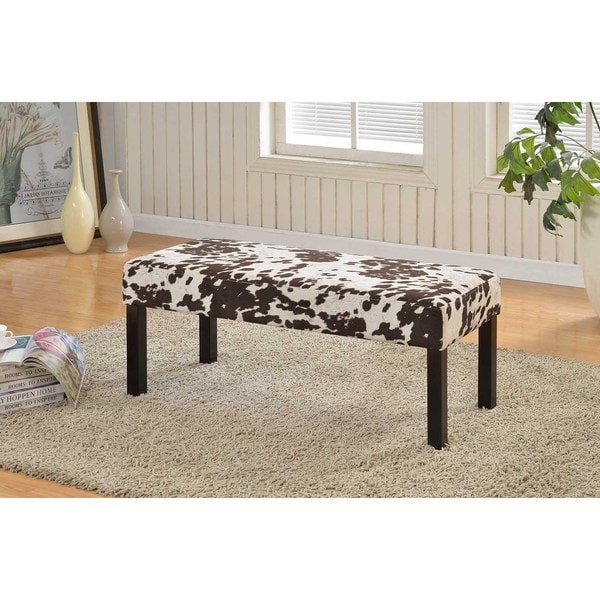 Alma Spots Print Fabric Upholstered Decorative Bench