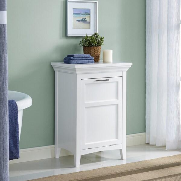 Wyndenhall Hayes Laundry Hamper in White