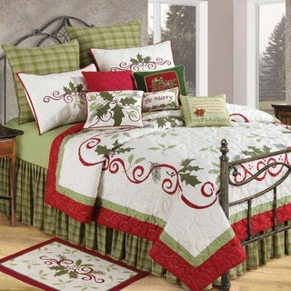 Holiday Garland Cotton Quilt and Sham Separates