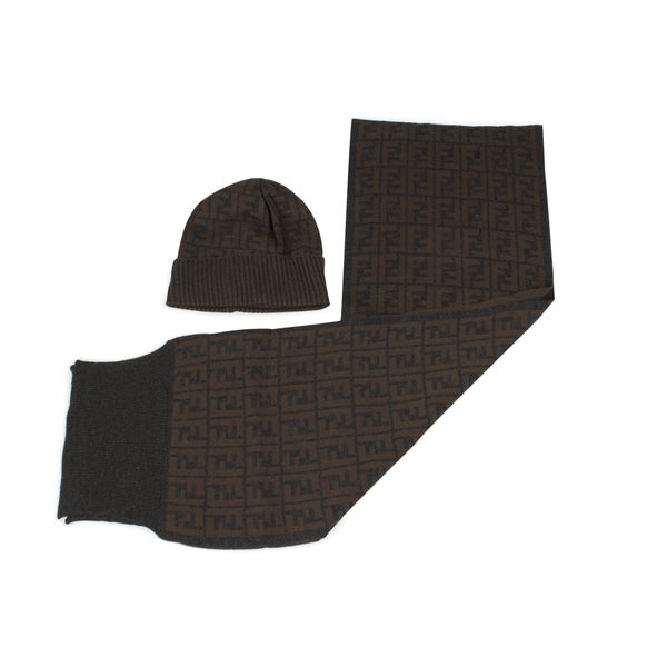 Fendi Hat and Scarf Set in Brown
