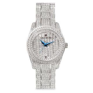 Croton Men's CN307543RHPV Stainless Steel Silvertone Austrian Crystal Watch