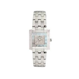 Croton Women's CN207407SSDI Stainless Steel Silvertone Diamond case Watch