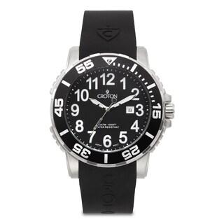 Croton Men's CA301280BSBK Stainless Steel Silvertone Date Watch