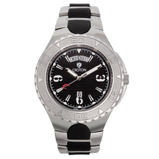 Croton Men's CA301287SSWH Stainless Steel Black Super C Watch