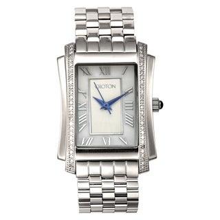 Croton Women's CN207481SSMP Stainless Steel Silvertone Diamond Case MOP Dial Watch
