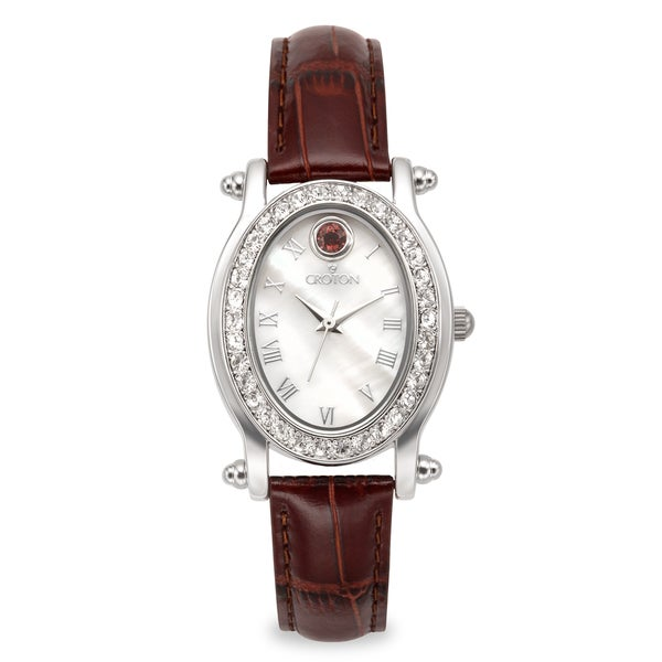 January Birthstone Watch with Mother of Pearl Dial