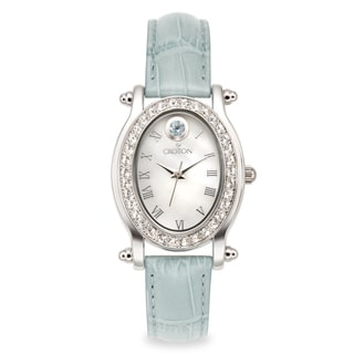 Croton Women's CN207537LBMP Stainless Steel March BirthstoneMother of Pearl Watch