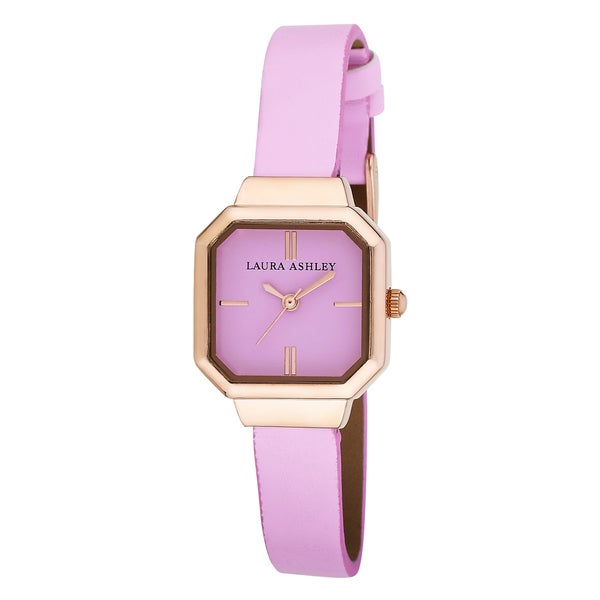 Laura Ashley Ladies Petite Pink Sunray Dial Watch