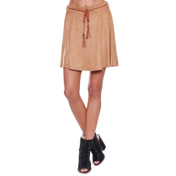 Beston Junior's Boho Suede Tan Skirt
