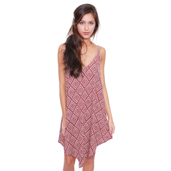 Beston Junior's Bohemian Print Lace up Dress 7D0619