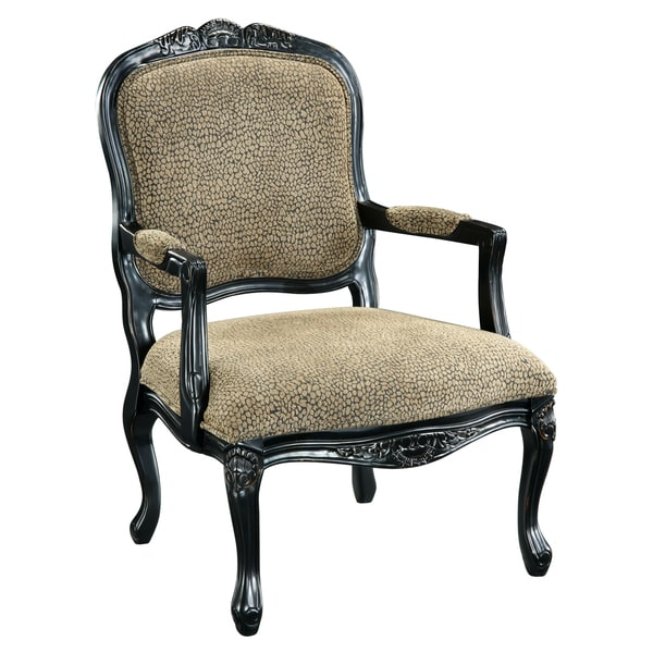 Somette Tan Reptile Print Accent Armchair