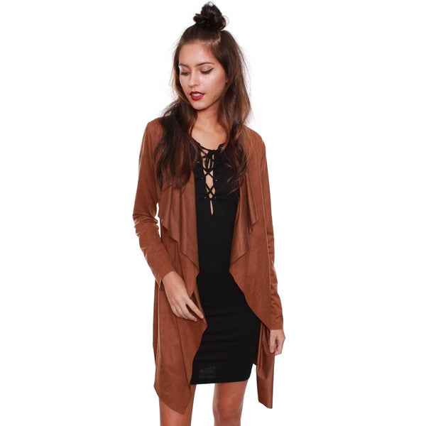 Beston Junior's Boho Chic Suede Trench Jacket J1038