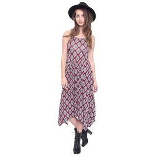 Beston Junior's Burgundy Bohemian Print Dress