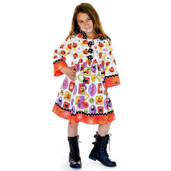 Jelly the Pug Orange/ White Boo-tiful Hannah Dress
