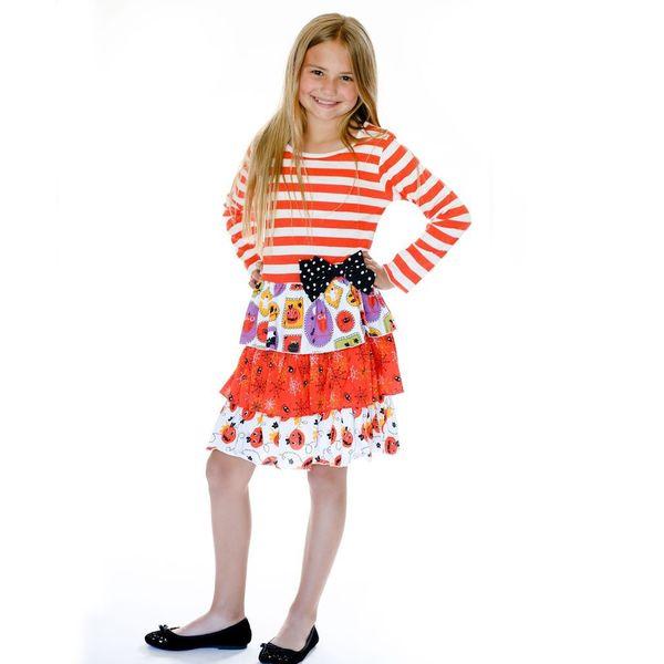 Jelly the Pug Orange/ White Boo-tiful Halloween Ruby Dress