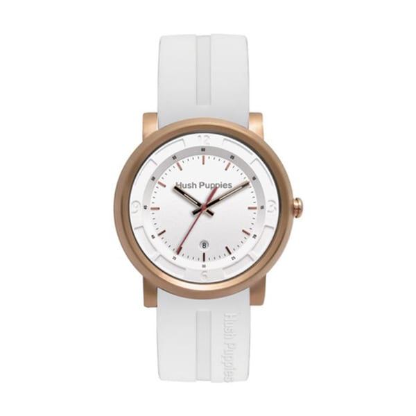 Hush Puppies Men's White Dial White Silicon Watch HP.3542M02.9506