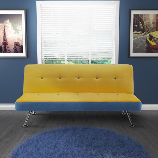 DHP Junior Minion Yellow Microfiber and Denim Futon