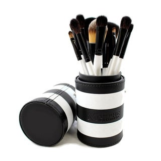Morphe 12-piece Black and White Travel Brush Set