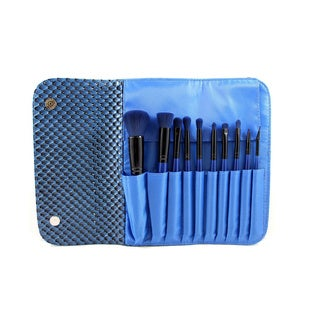 Morphe 10-piece 3D Pattern Navy Blue Brush Set